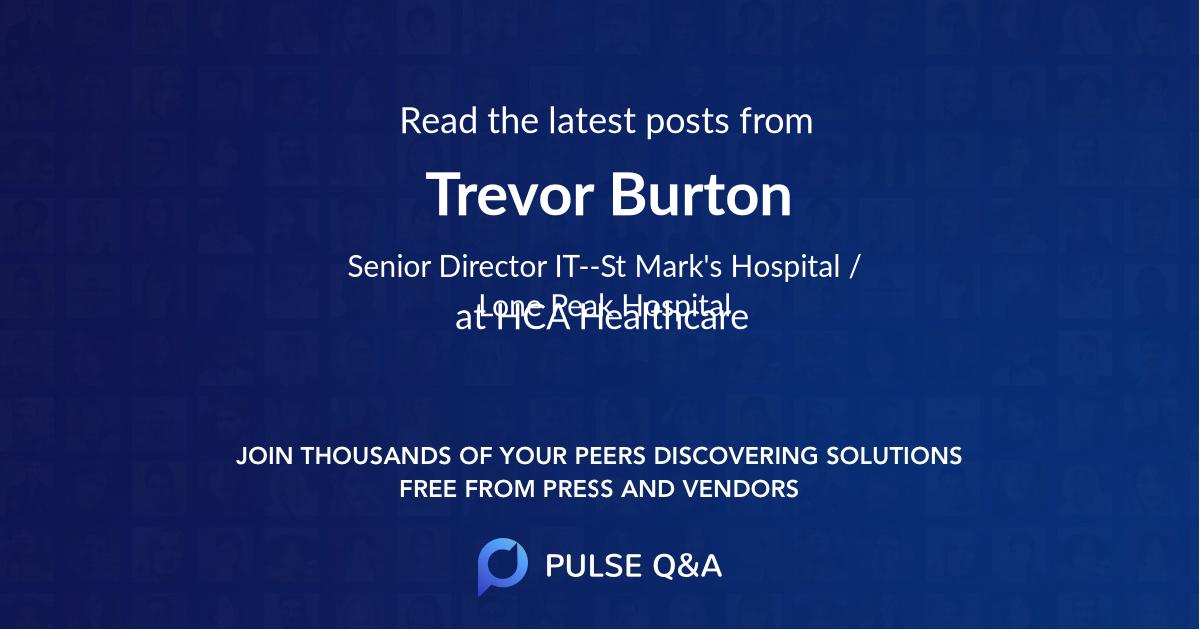 Trevor Burton