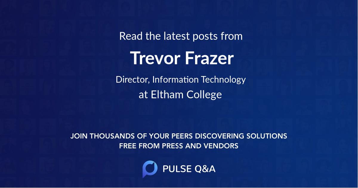 Trevor Frazer