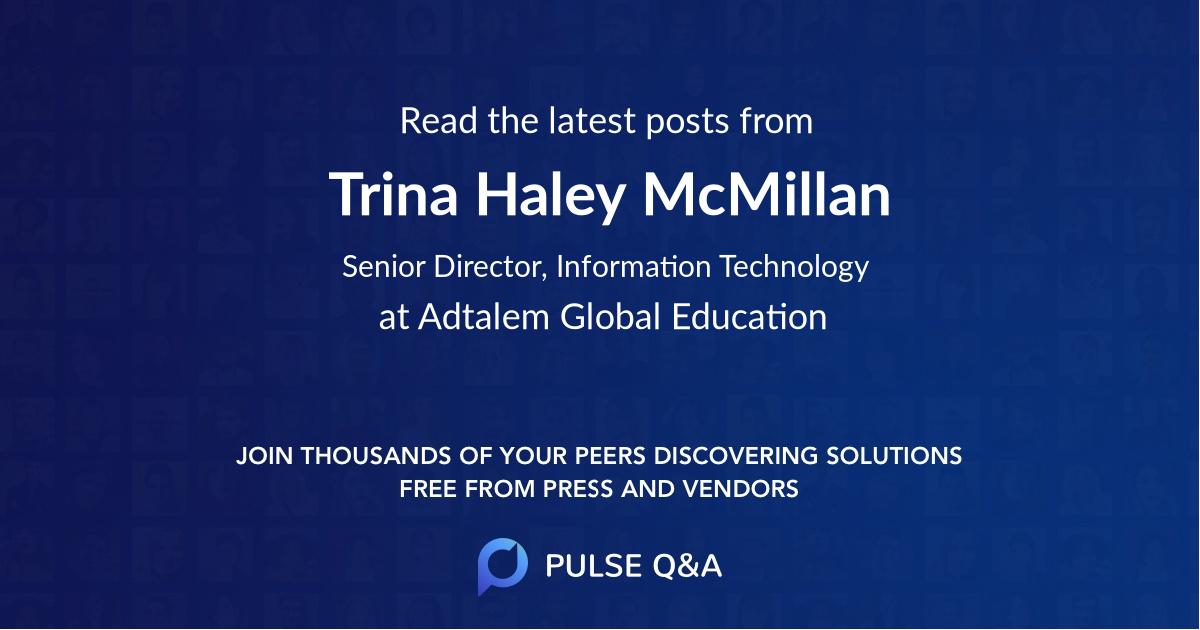 Trina Haley McMillan