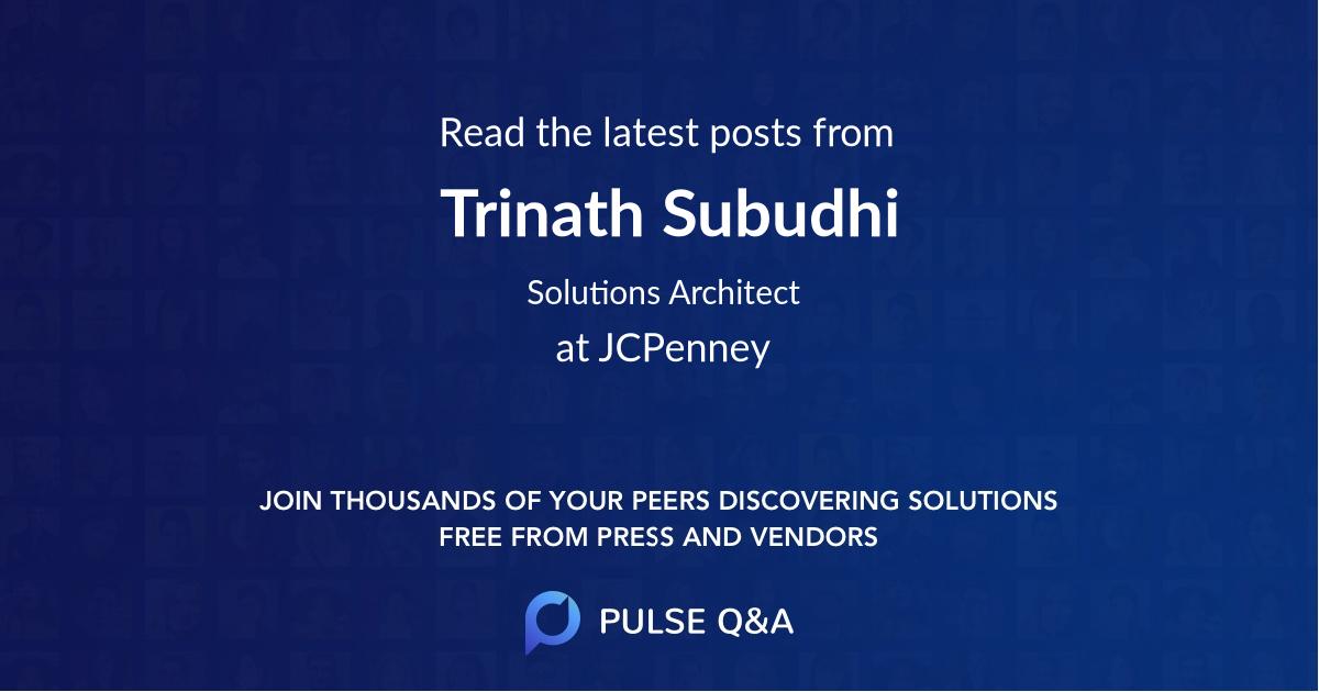 Trinath Subudhi