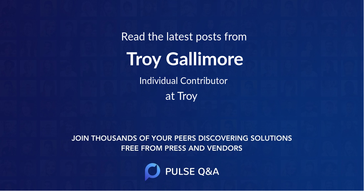 Troy Gallimore