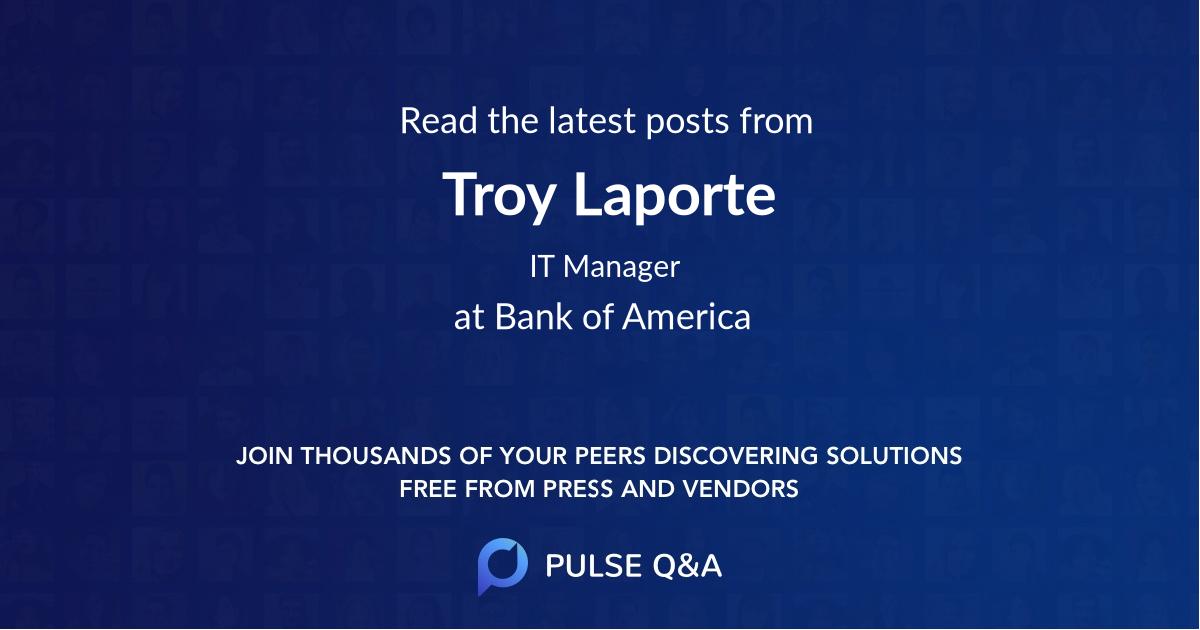 Troy Laporte
