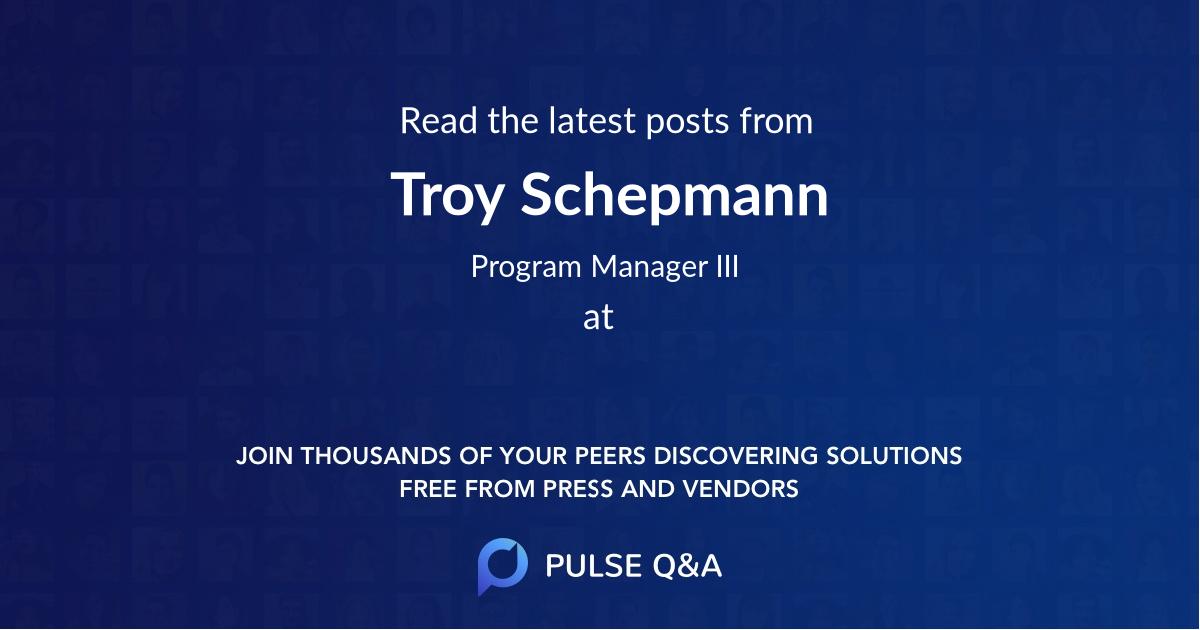 Troy Schepmann