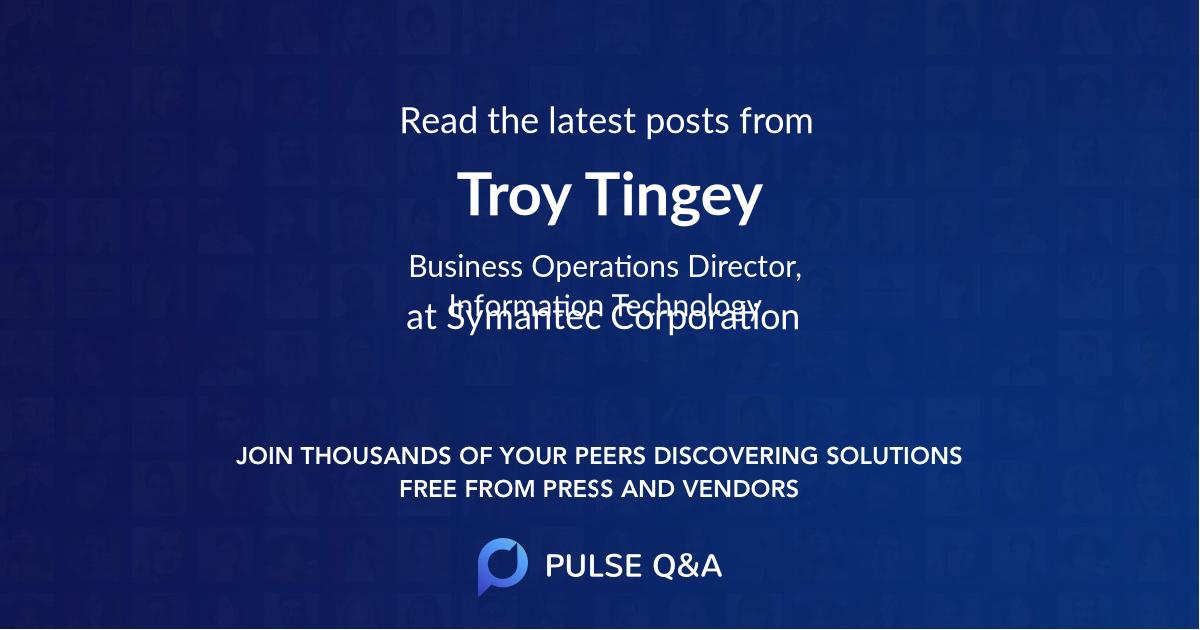 Troy Tingey