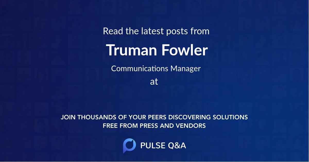 Truman Fowler
