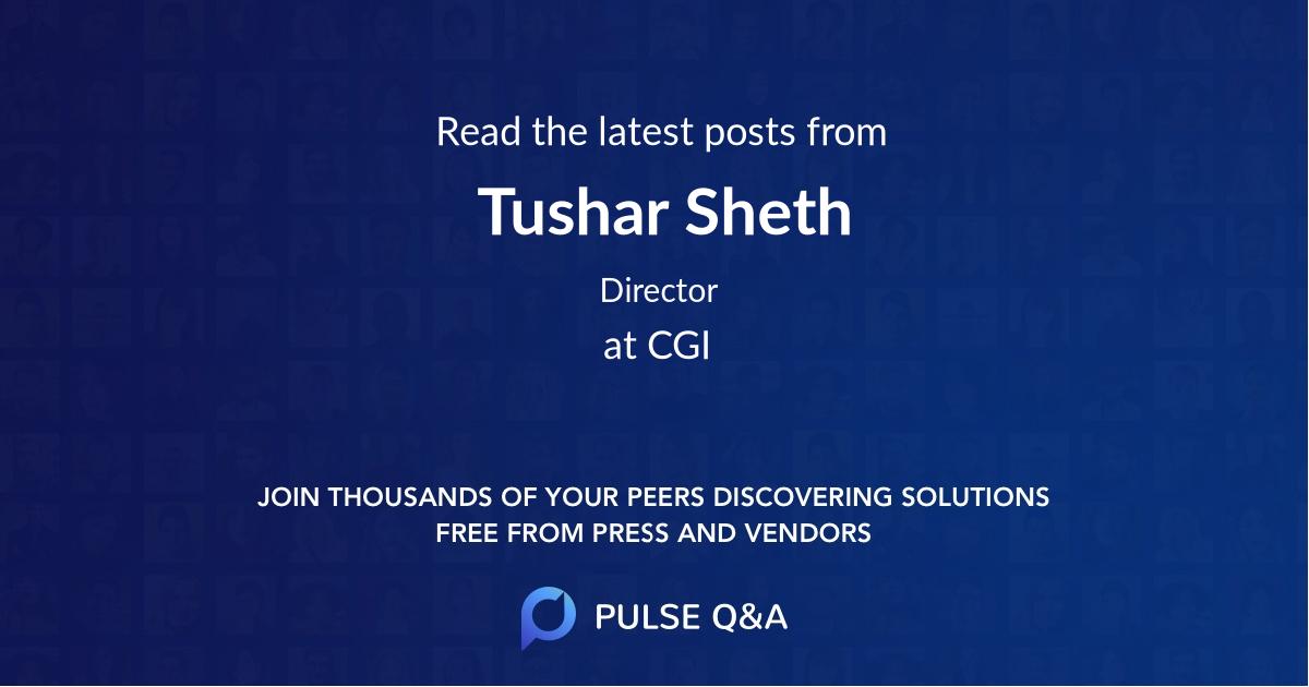Tushar Sheth