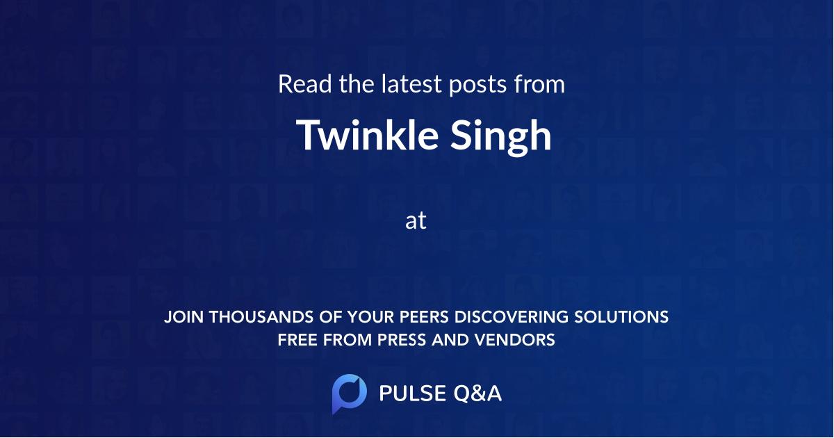 Twinkle Singh