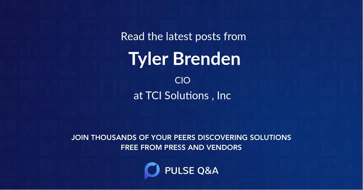 Tyler Brenden