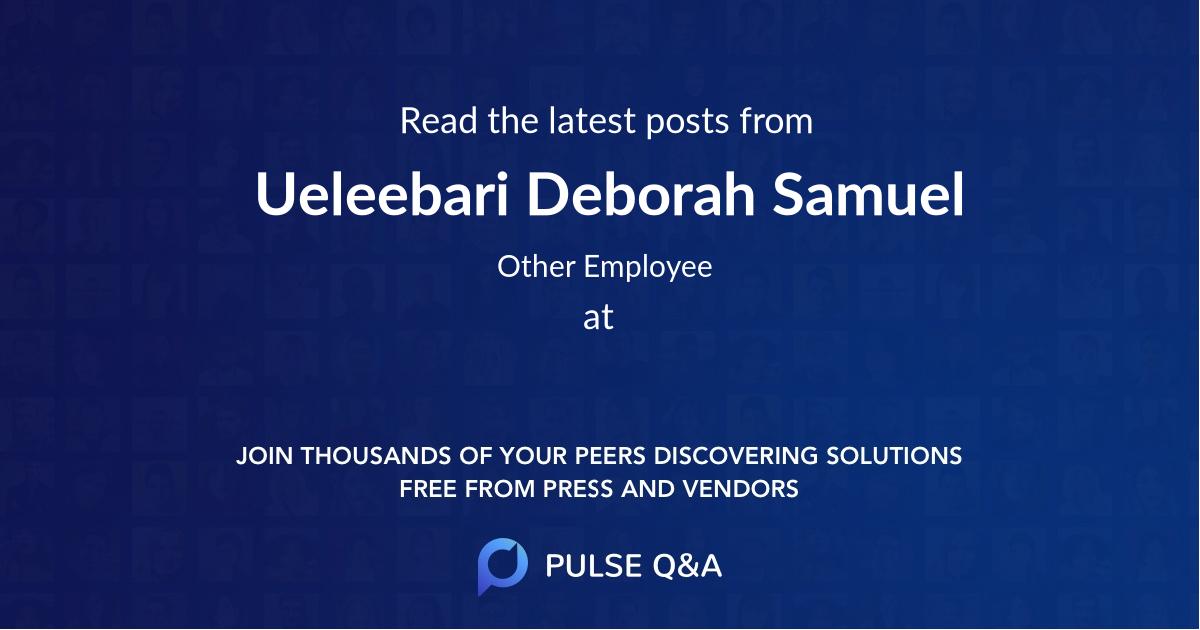 Ueleebari Deborah Samuel