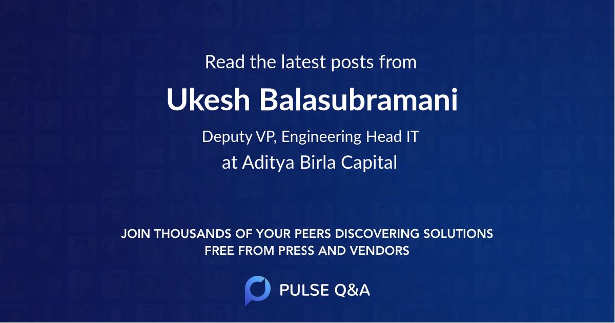 Ukesh Balasubramani