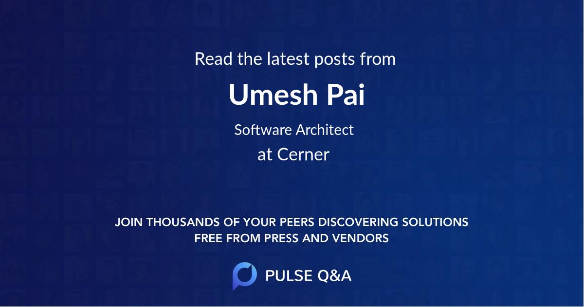 Umesh Pai