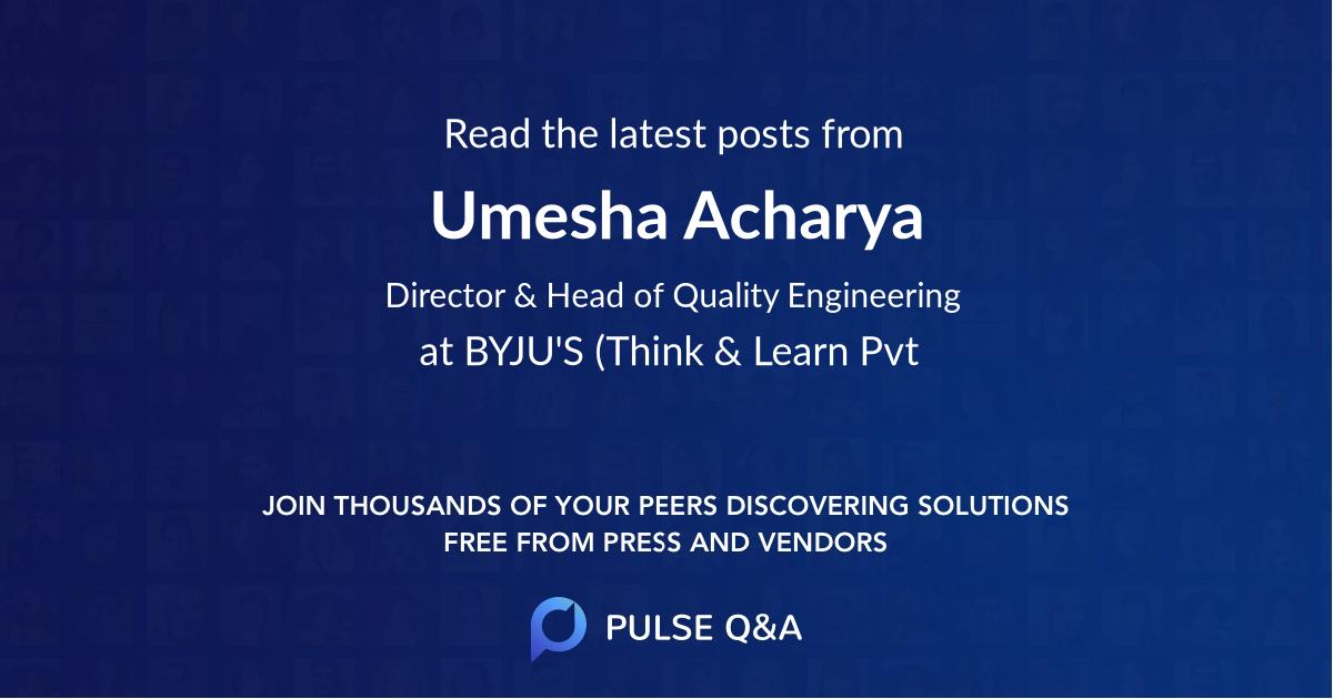 Umesha Acharya