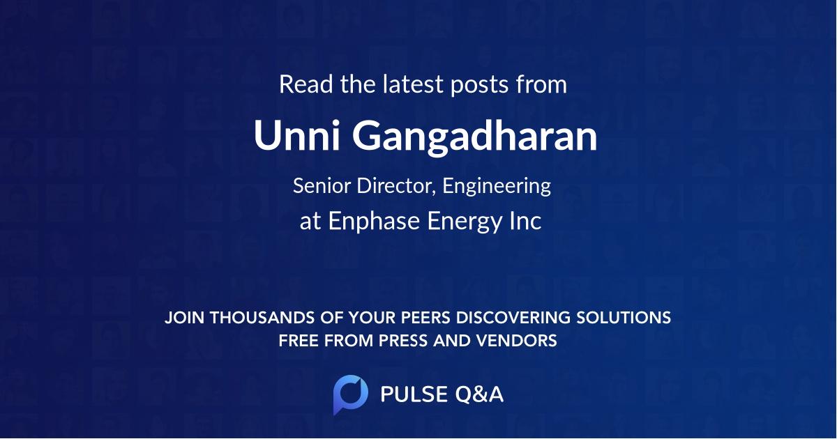 Unni Gangadharan