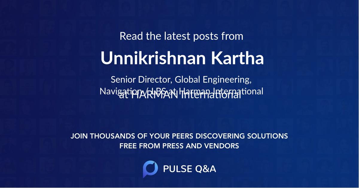 Unnikrishnan Kartha