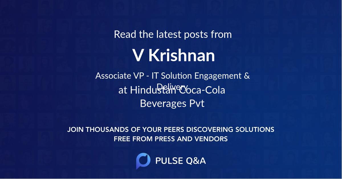 V Krishnan