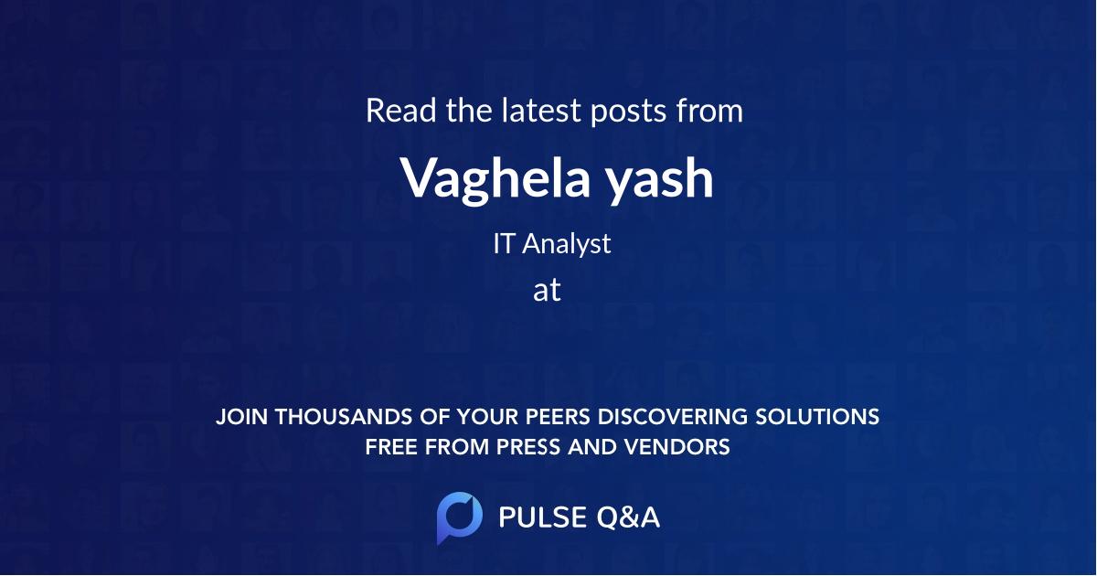 Vaghela yash