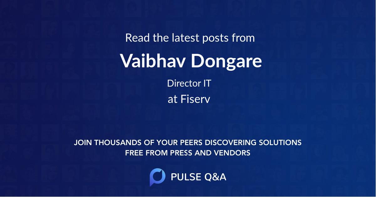 Vaibhav Dongare