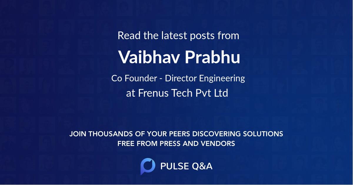 Vaibhav Prabhu