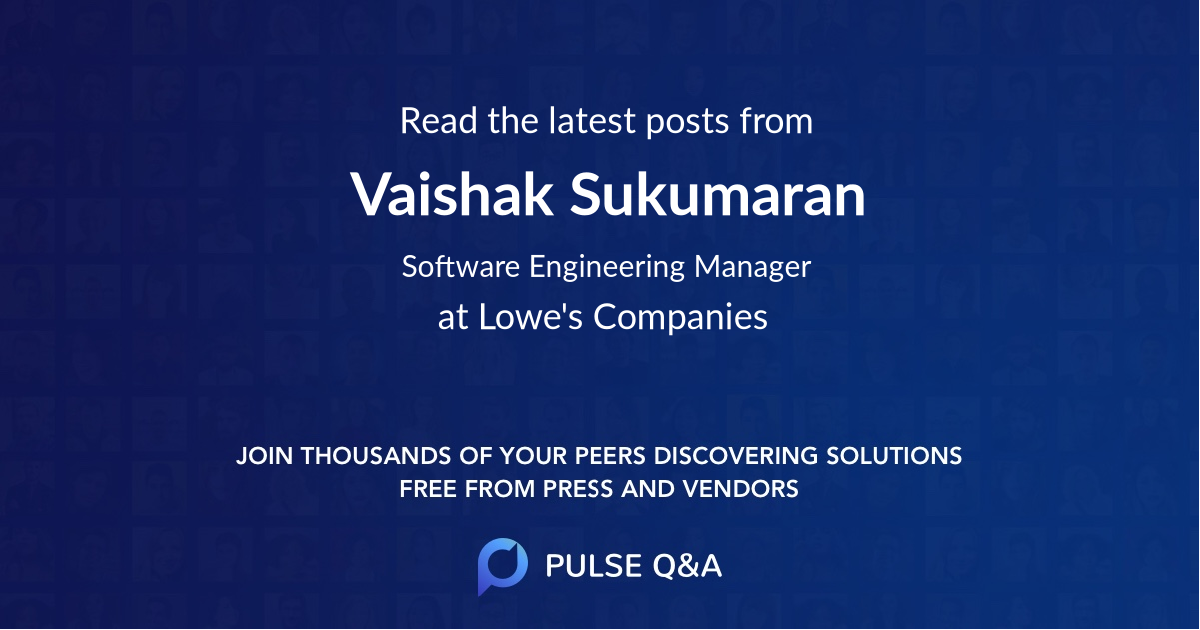 Vaishak Sukumaran