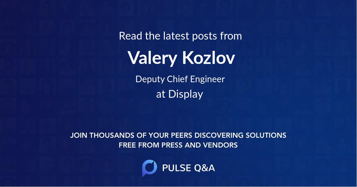 Valery Kozlov