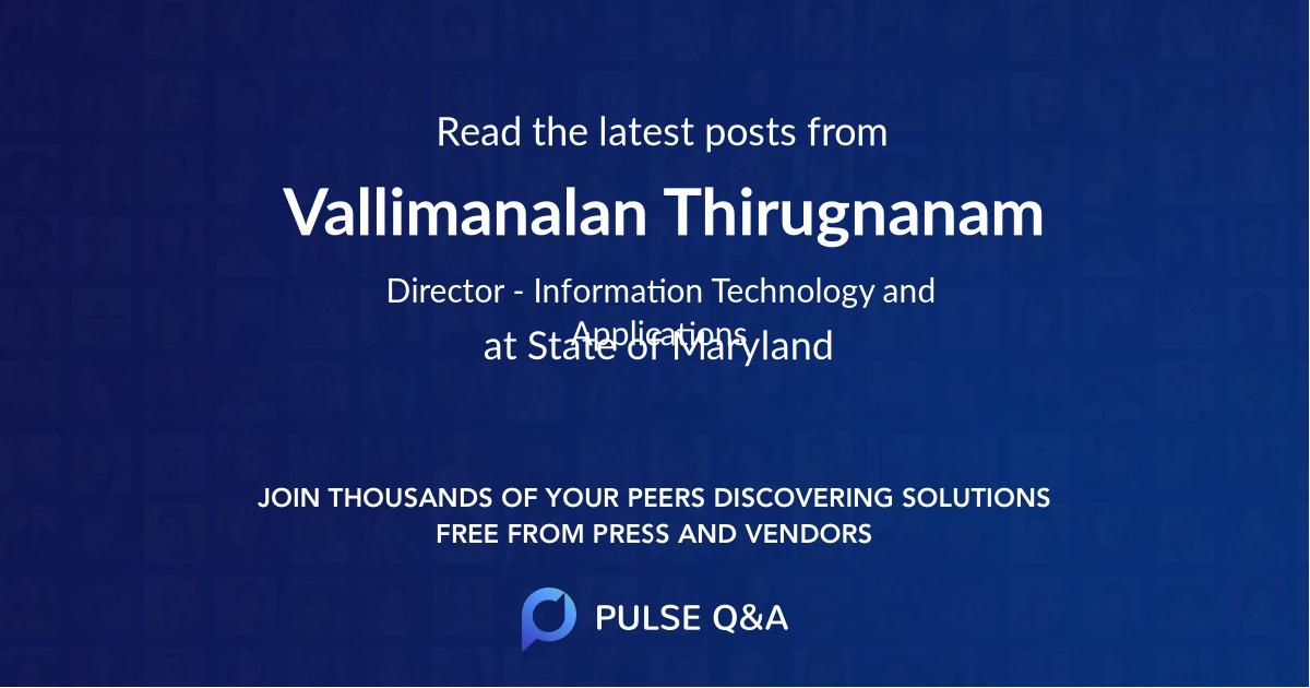 Vallimanalan Thirugnanam