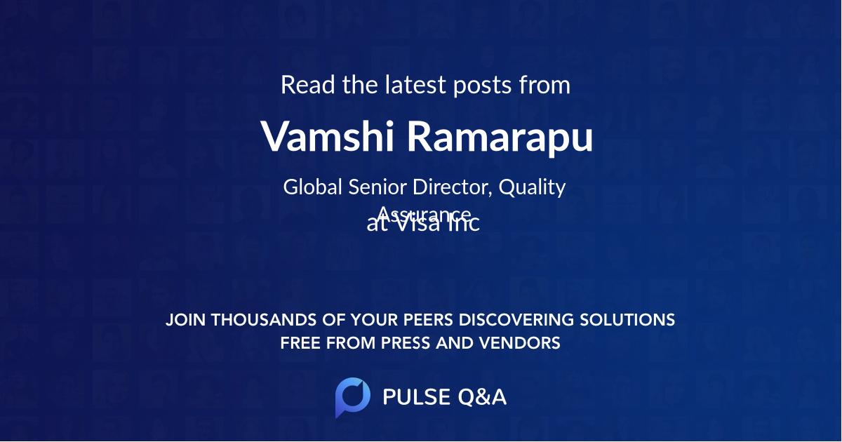 Vamshi Ramarapu