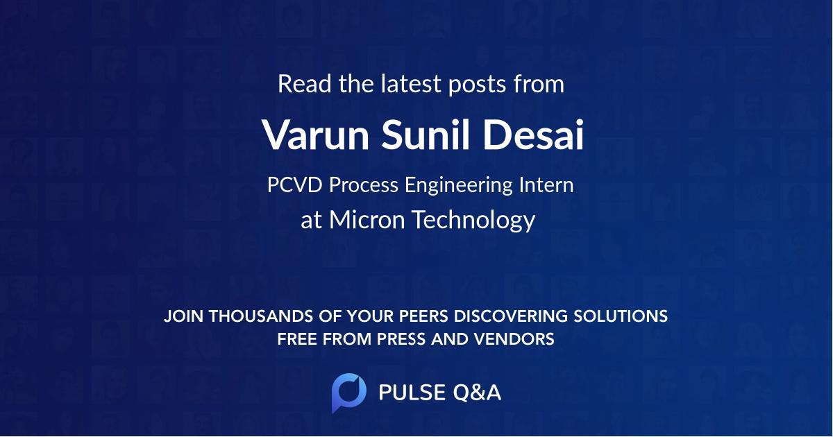 Varun Sunil Desai