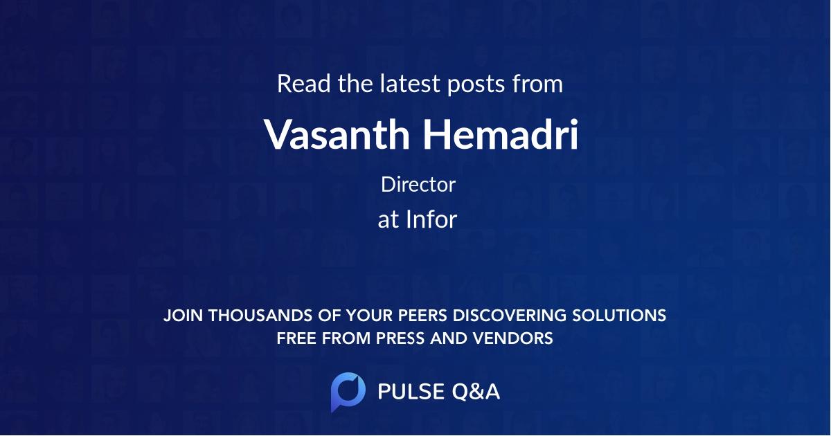 Vasanth Hemadri