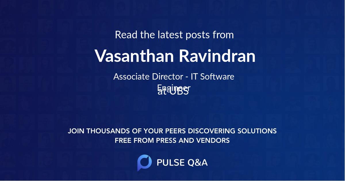 Vasanthan Ravindran