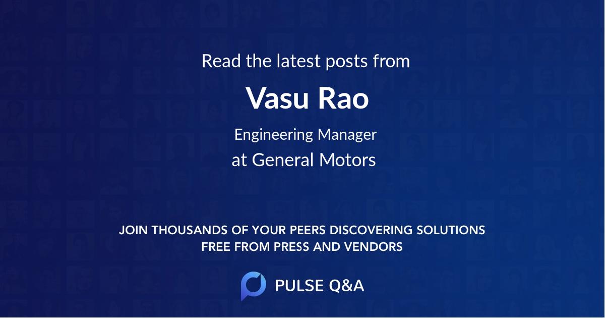 Vasu Rao