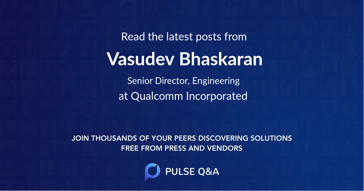 Vasudev Bhaskaran