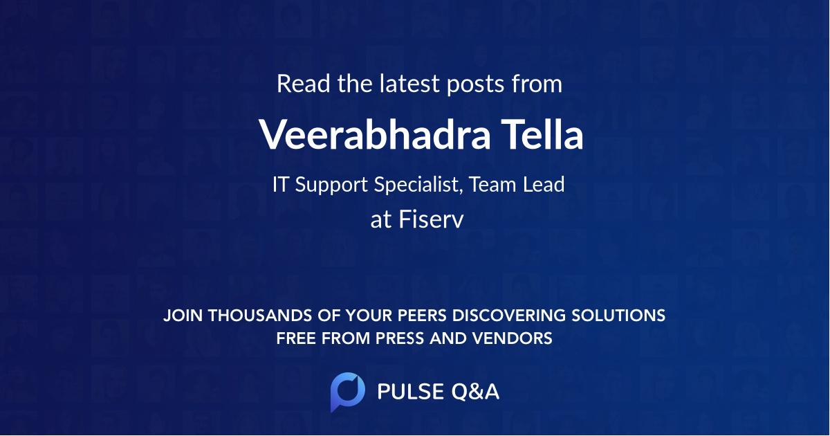 Veerabhadra Tella