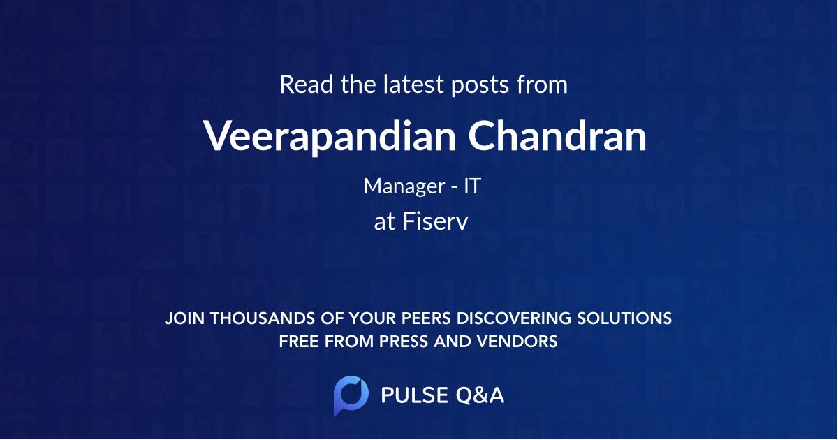 Veerapandian Chandran