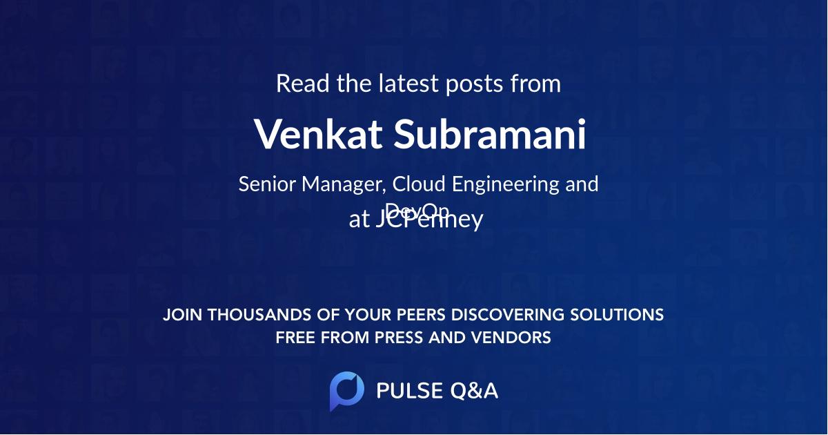 Venkat Subramani
