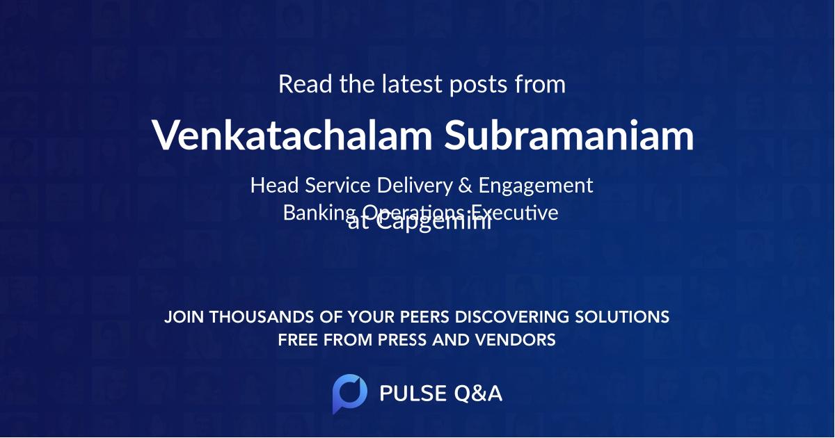 Venkatachalam Subramaniam