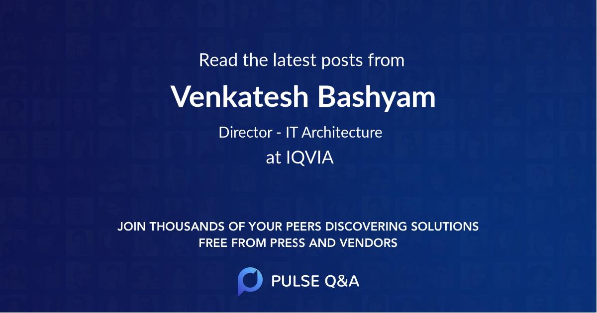 Venkatesh Bashyam