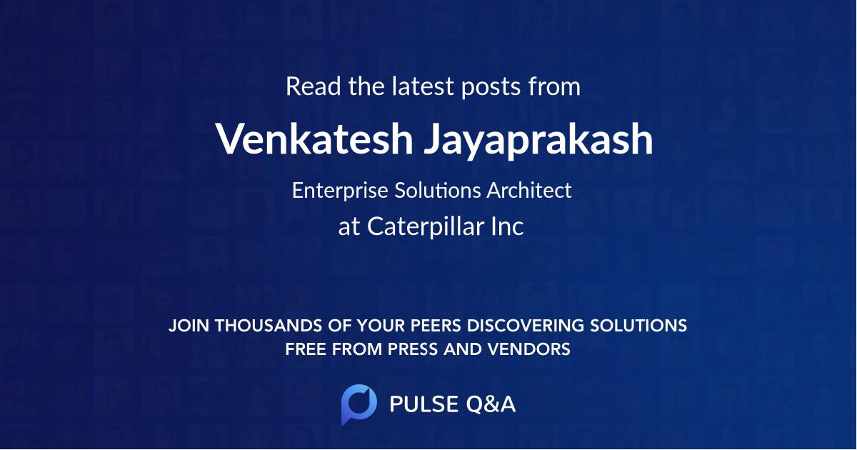 Venkatesh Jayaprakash