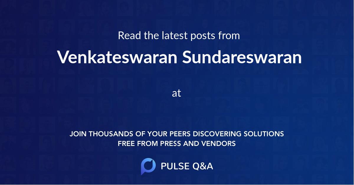 Venkateswaran Sundareswaran