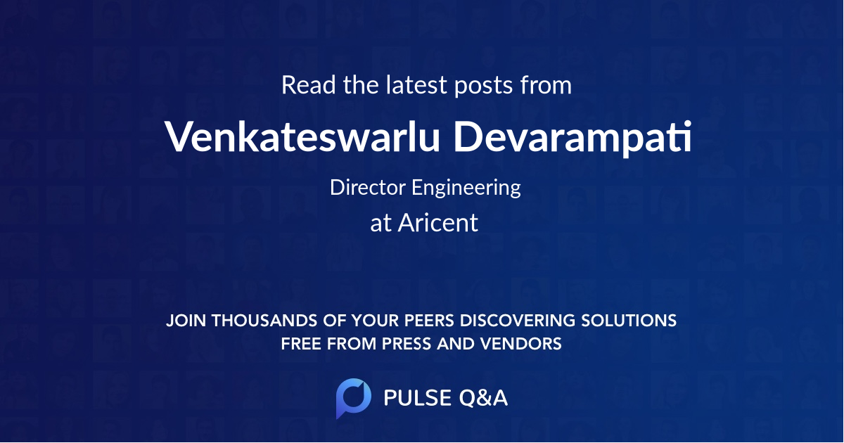Venkateswarlu Devarampati