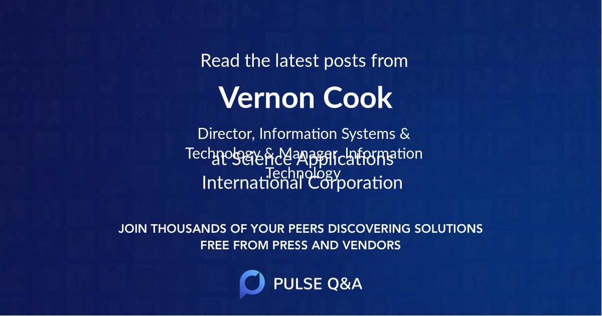 Vernon Cook