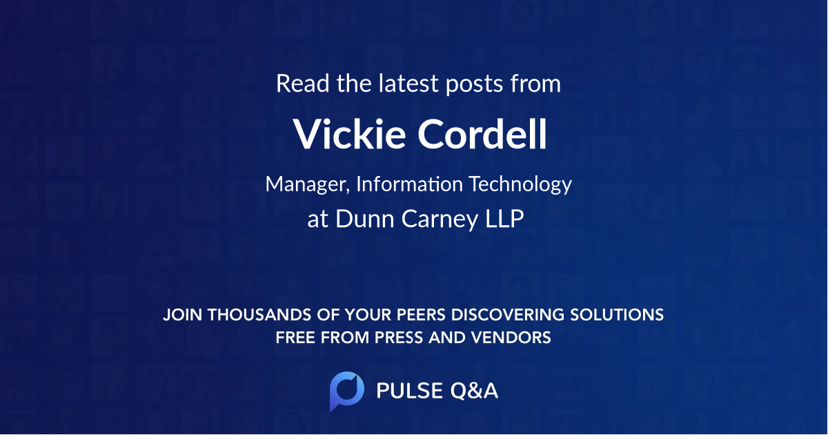 Vickie Cordell