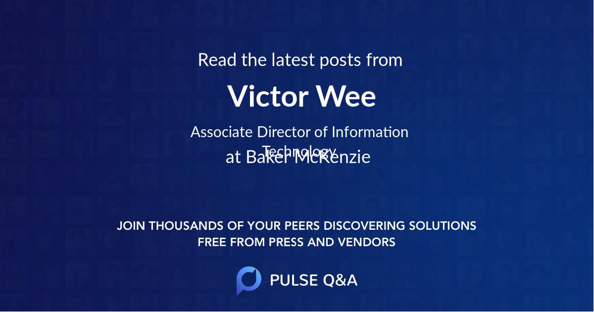 Victor Wee