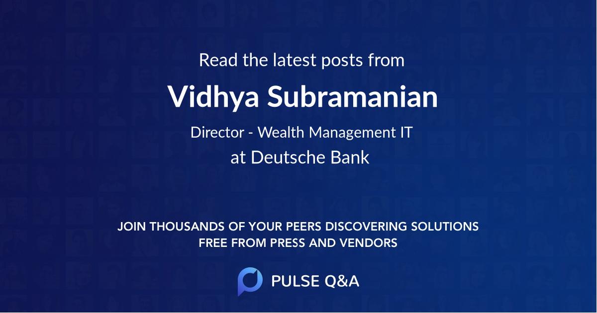 Vidhya Subramanian