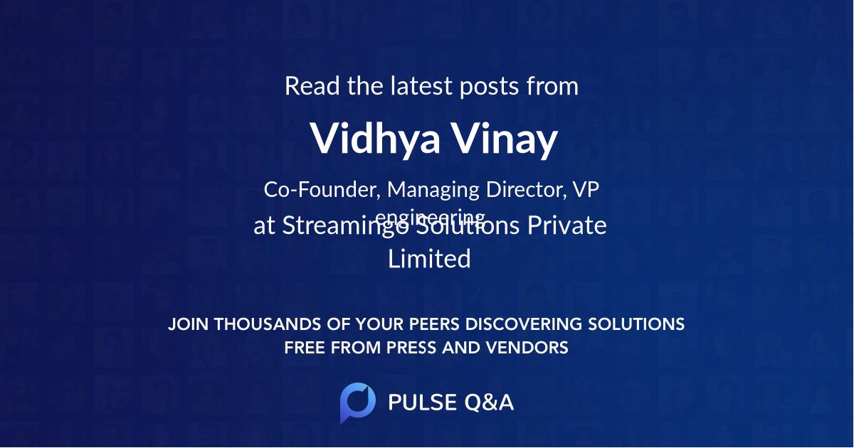 Vidhya Vinay