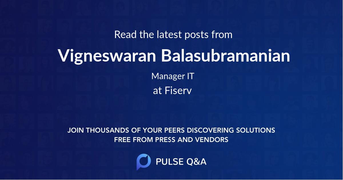 Vigneswaran Balasubramanian