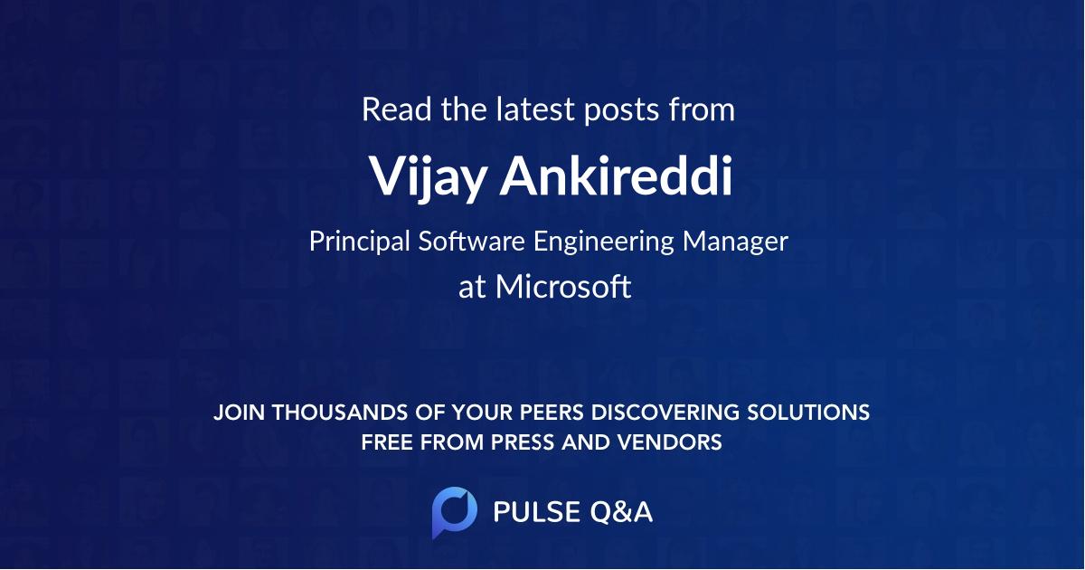 Vijay Ankireddi