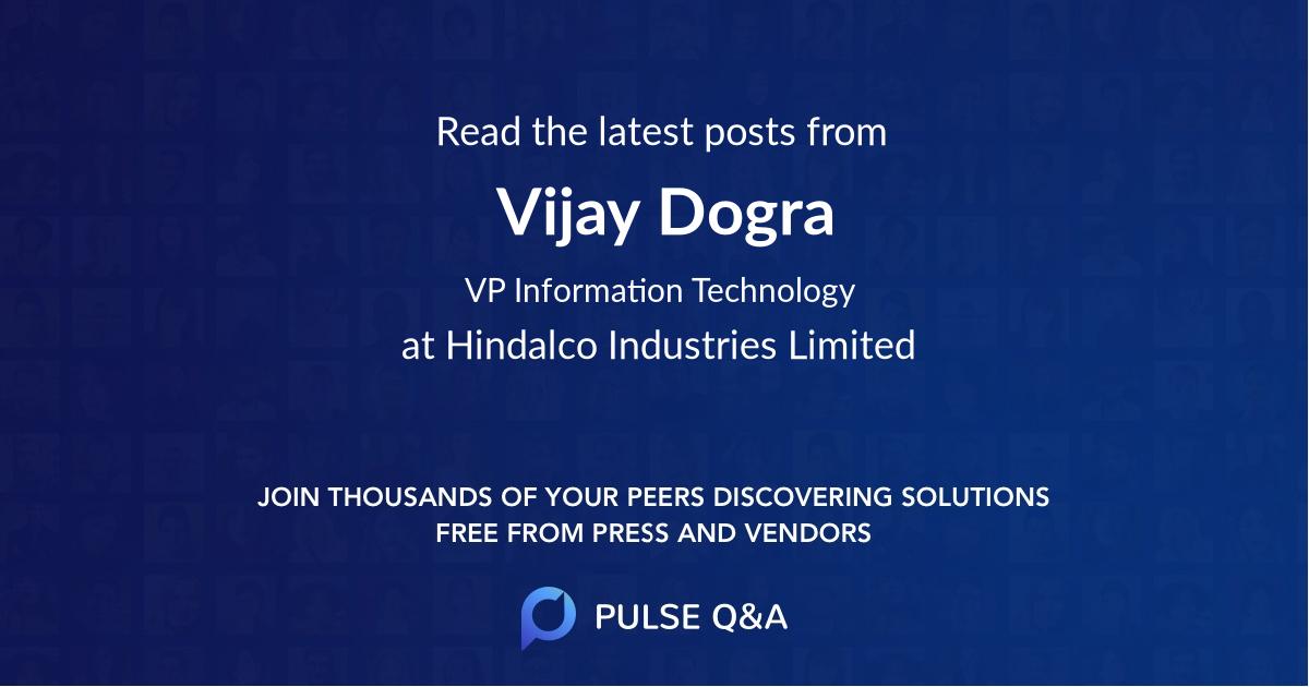 Vijay Dogra