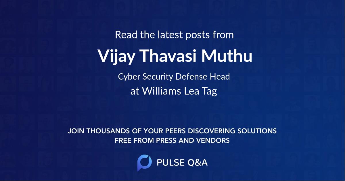 Vijay Thavasi Muthu