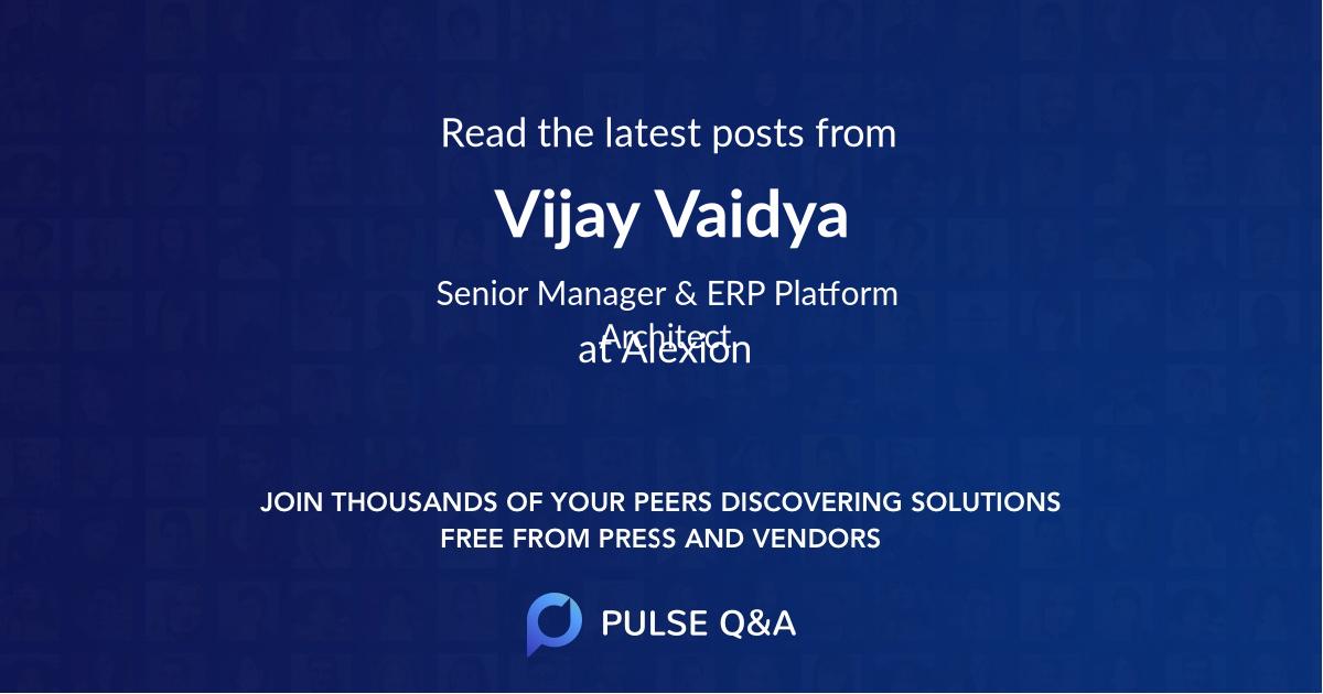 Vijay Vaidya