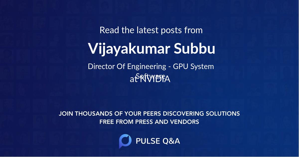 Vijayakumar Subbu